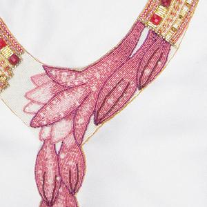 Оплечье для свадебного платья «Лотосы»